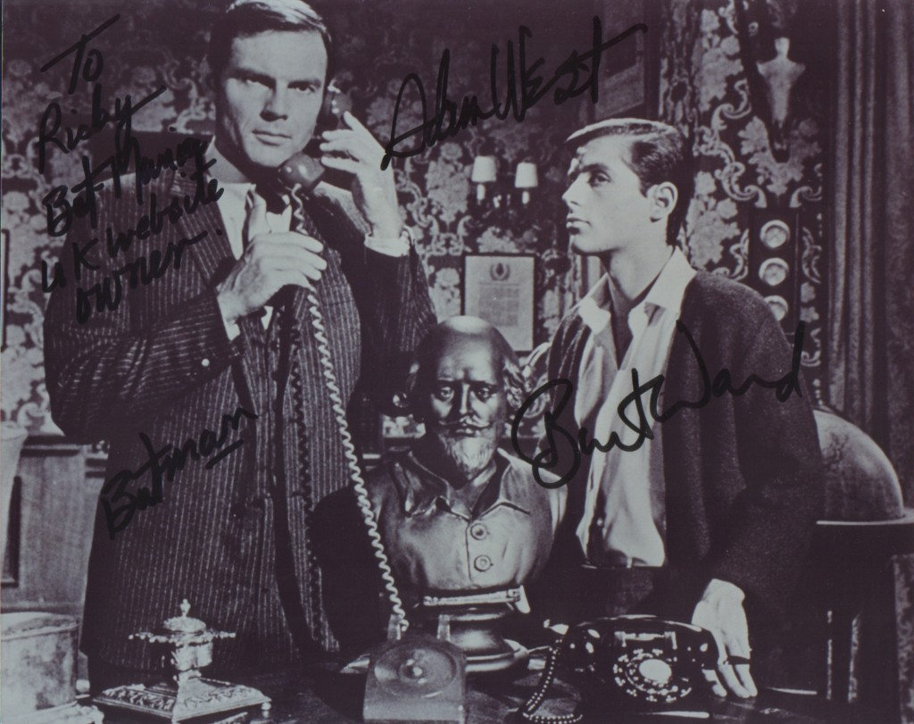 Adam West & Burt Ward signed photo