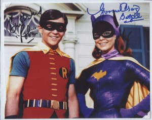 Burt Ward and Yvonne Craig autographs